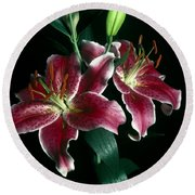 Reuben Lillies Round Beach Towel