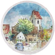 Reute In Germany 01 Round Beach Towel