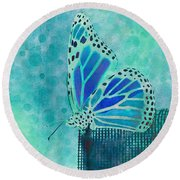 Reve De Papillon - S02a2 Round Beach Towel by Variance Collections