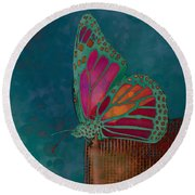 Reve De Papillon - S04bt02 Round Beach Towel