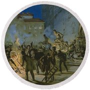 Revolution In Florence Round Beach Towel