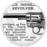 Revolver, 19th Century Round Beach Towel
