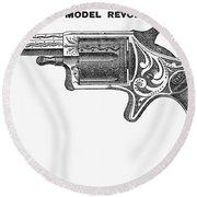 Revolver Ad, 1878 Round Beach Towel