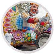 Rex Mardi Gras Parade IIi Round Beach Towel