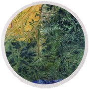 Rhapsody Of Colors 58 Round Beach Towel