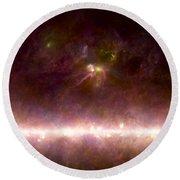 Rho Ophiuchi Nebula And Galactic Center Round Beach Towel