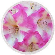 Rhododendron- Hot Pink Round Beach Towel