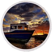 Rhos Sunrise Round Beach Towel