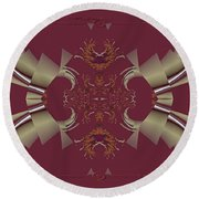 Ribbons To Claws Round Beach Towel