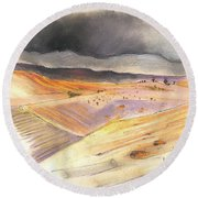 Ribera Del Duero In Spain 08 Round Beach Towel