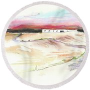 Ribera Del Duero In Spain 09 Round Beach Towel