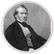 Richard Cobden (1804-1865). /nenglish Politician And Economist. Steel Engraving, English, 19th Century Round Beach Towel