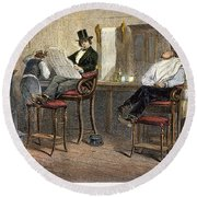Richmond Barbershop, 1850s Round Beach Towel