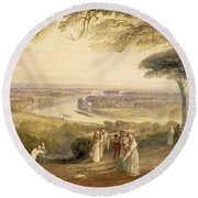 Richmond Terrace Round Beach Towel by Joseph Mallord William Turner