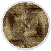 Rift In The Sand Round Beach Towel