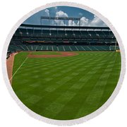 Right Field Of Oriole Park At Camden Yard Round Beach Towel