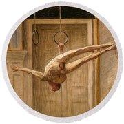 Ring Gymnast No 2 Round Beach Towel by Eugene Jansson