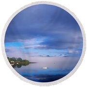 Ring Of Kerry, Dinish Island Kenmare Bay Round Beach Towel