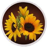 Ring Of Sunflowers Round Beach Towel