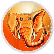 Ringo Party Animal Orange Round Beach Towel