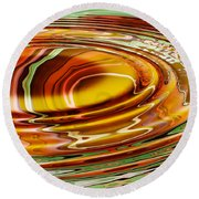 Rippled Abstract Round Beach Towel