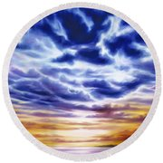 Rise Round Beach Towel