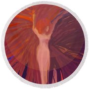 Rising From The Ashes Round Beach Towel