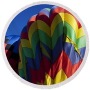 Rising Hot Air Balloons Round Beach Towel
