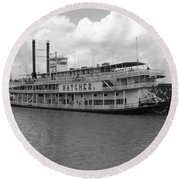 River Boat Queen Round Beach Towel