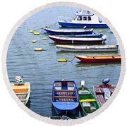 River Boats On Danube Round Beach Towel by Elena Elisseeva