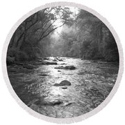 River Gaze Round Beach Towel