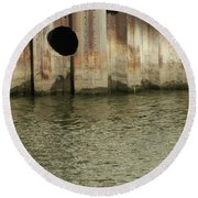 River In The City 1 Round Beach Towel