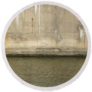 River In The City 2 Round Beach Towel