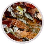 River Leaves Round Beach Towel by LeeAnn McLaneGoetz McLaneGoetzStudioLLCcom