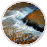River Of Fire Round Beach Towel