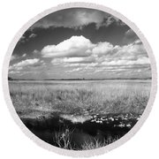 River Of Grass - The Everglades Round Beach Towel