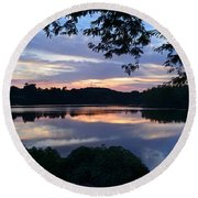 River Of Tranquility Round Beach Towel