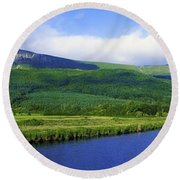 River Roe, Binevenagh, Co Derry Round Beach Towel