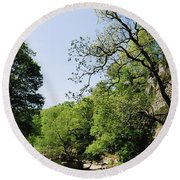 River Roe, Roe Valley, Limavady, Co Round Beach Towel
