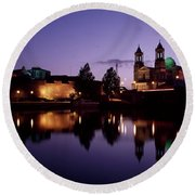River Shannon, Athlone, County Round Beach Towel