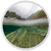 River Surface Round Beach Towel