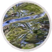 River Swirls - Abstract Round Beach Towel