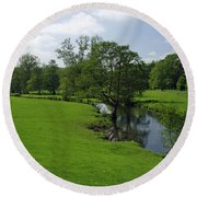 Riverside Meadows - Ashford-in-the-water Round Beach Towel
