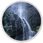 Road To Hana Waterfall Round Beach Towel