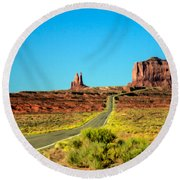 Road To Paradise Round Beach Towel