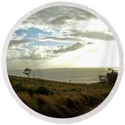 Road To The Ocean Round Beach Towel