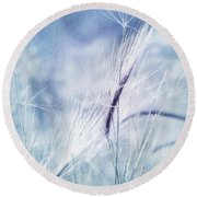 Roadside Blues Round Beach Towel by Priska Wettstein