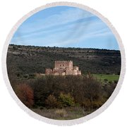 Roadside Castle Round Beach Towel