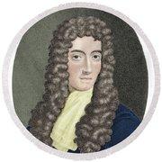 Robert Boyle, British Chemist Round Beach Towel