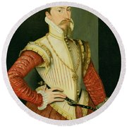 Robert Dudley - 1st Earl Of Leicester Round Beach Towel